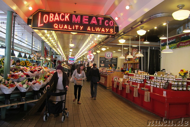 Pike Place Market - Markt in Seattle, U.S.A.