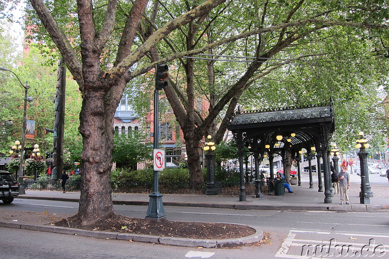 Pioneer Square - Platz in Seattle, U.S.A.