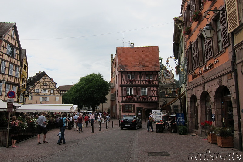 Place de l' Ancienne Douane in Colmar, Frankreich