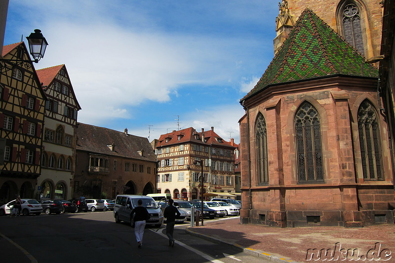 Place de la Cathedrale in Colmar, Frankreich
