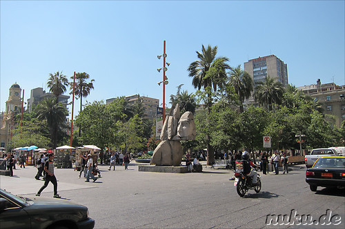 Plaza de Armas in Santiago de Chile