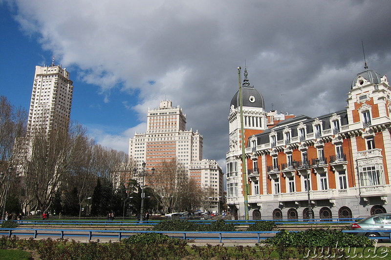 Plaza de Espana in Madrid, Spanien