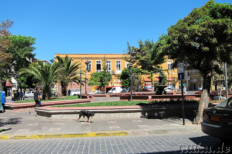 Plaza Echaurren in Valparaiso, Chile