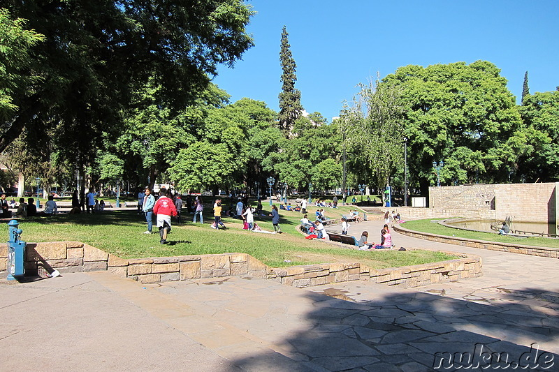 Plaza Independencia in Mendoza, Argentinien