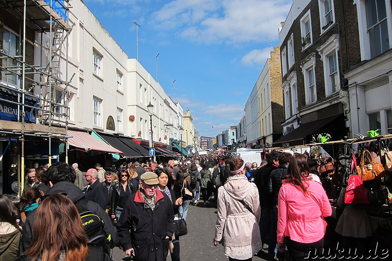 Portobello Road Market in London, England