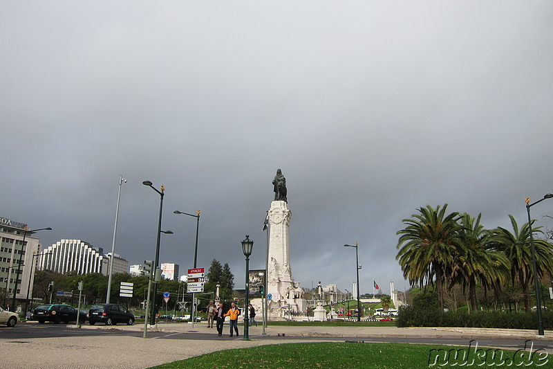 Praca do Marques de Pombal - Platz in Lissabon, Portugal