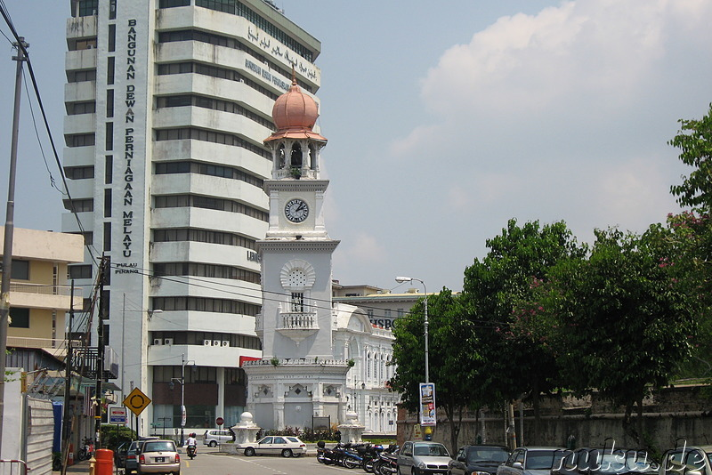 Queen Victoria Clock Tower in George Town, Pulau Penang, Malaysia