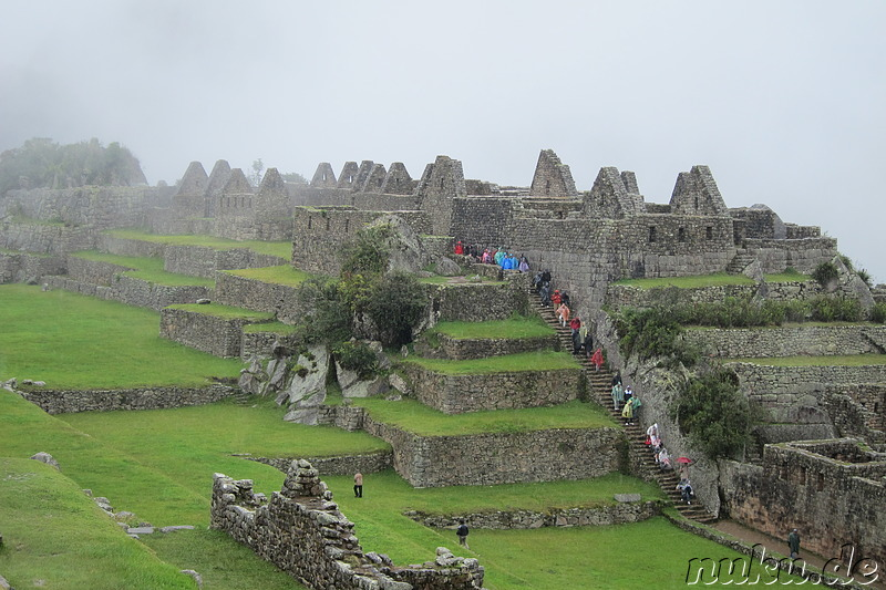 Residential, Industrial and Prison Sectors of Machu Picchu, Peru