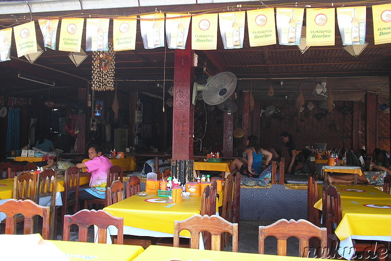 Restaurant bzw. Cocktail- und Shake-Bar in Vang Vieng