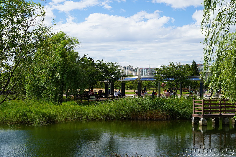 Sangdong Lake Park in Bupyeong, Incheon, Korea