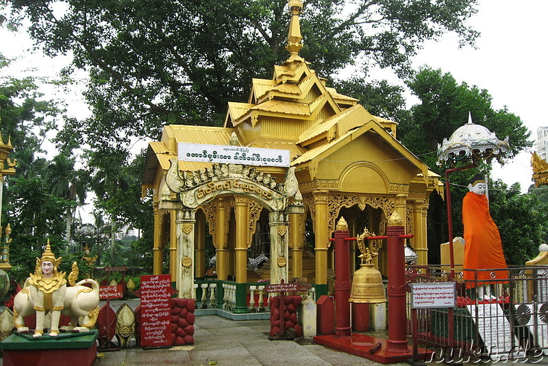 Shin Upagot Shrine in Yangon, Myanmar