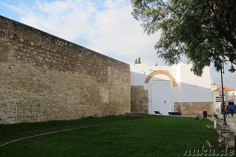 Stadtmauer in Faro, Portugal