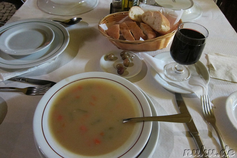 Suppe im Restaurant Casa de Pasto o Ze in Lagos, Portugal