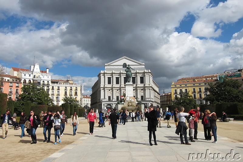 Theater am Plaza Oriente in Madrid, Spanien