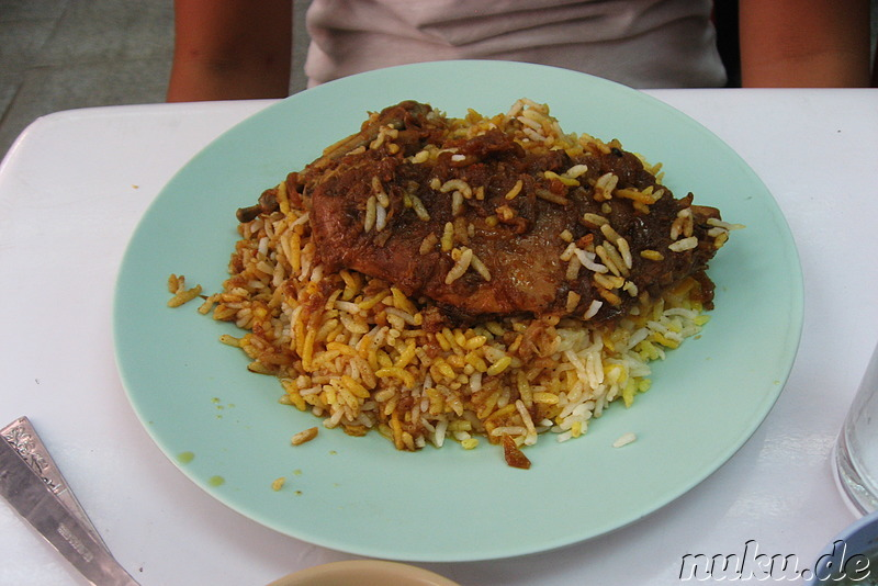 Weiteres Curry-Gericht im Nila Biryani Shop in Rangoon