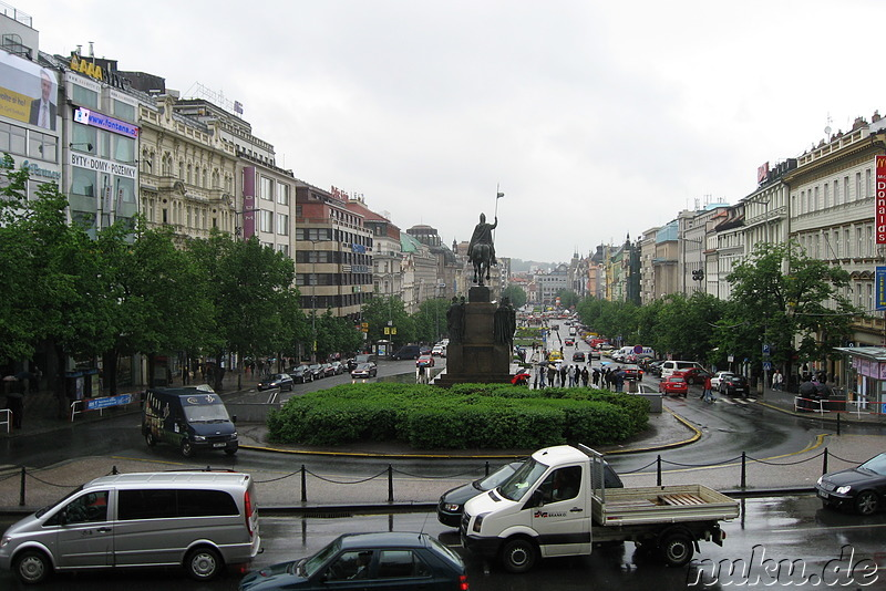 Wenceslas Square in Prag, Tschechien