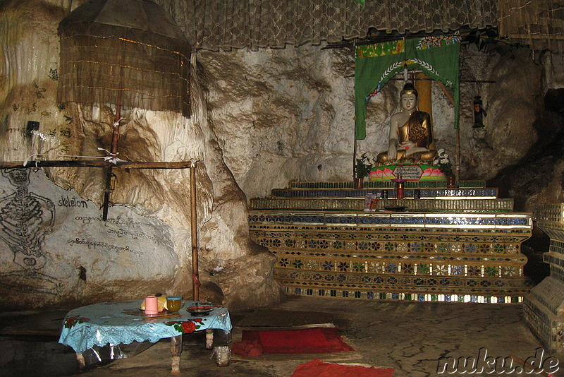 Htup-Ein Small Meditation Cave am Inle See in Burma