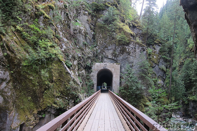 Kettle Valley Railway im Coquihalla Canyon Provincial Park in British Columbia, Kanada