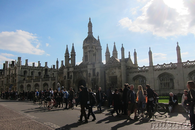 Kings Parade Street in Cambridge, England