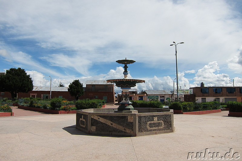 Plaza in Pucara, Peru