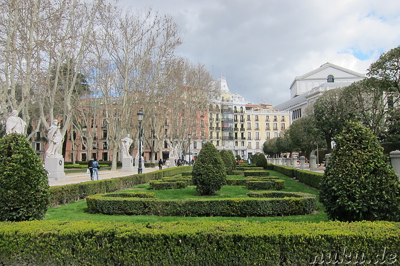 Plaza Oriente in Madrid, Spanien