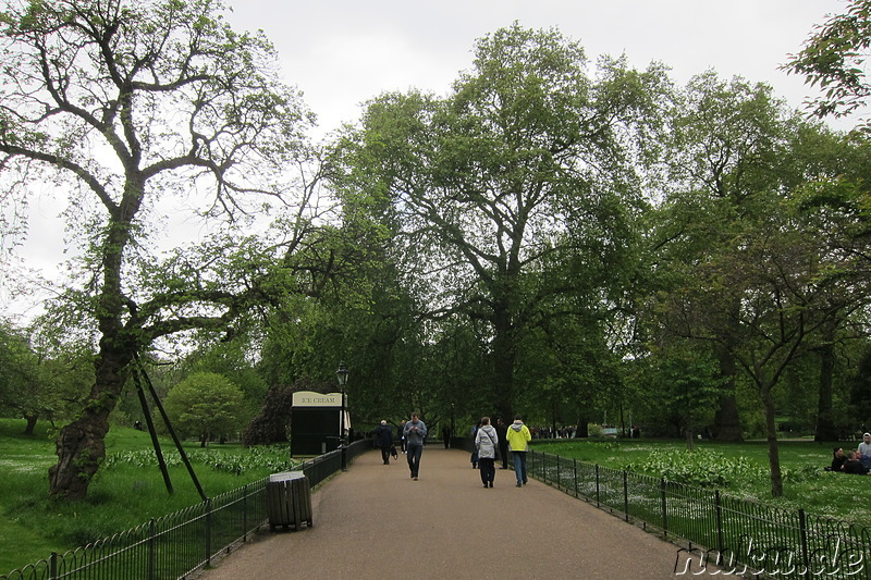 St James Park in London, England
