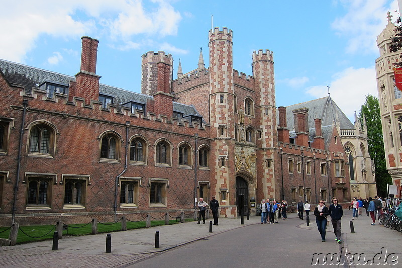 St Johns College in Cambridge, England