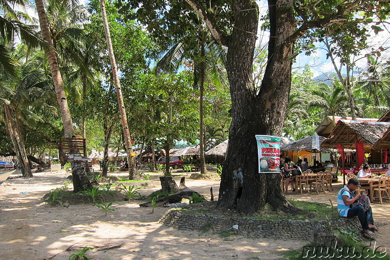Strandrestaurant in Sabang auf Palawan, Philippinen