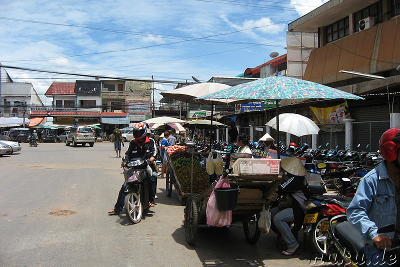 Talat Sao Morning Market in Vientiane, Laos