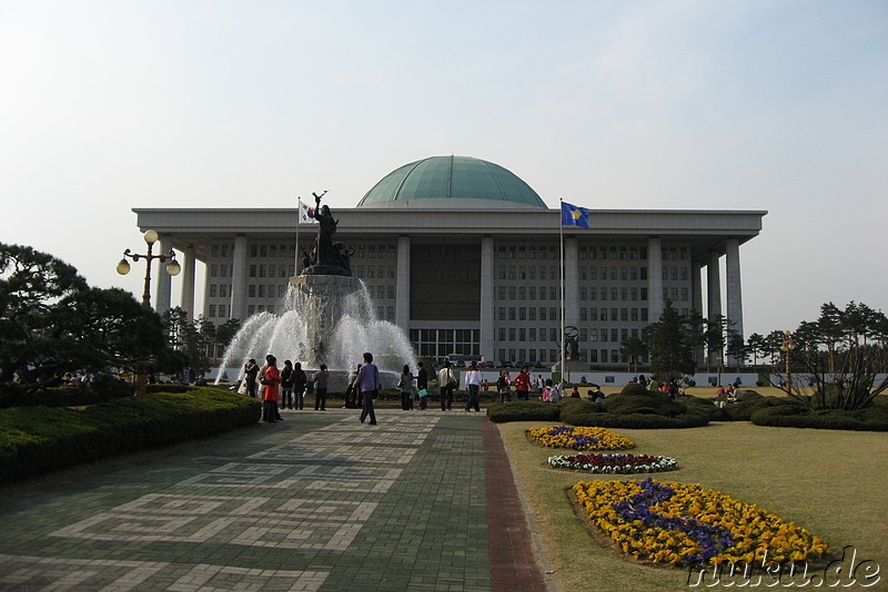 The National Assembly Building auf Yeoido, Seoul, Korea