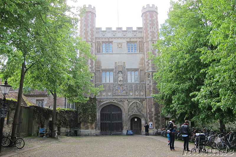 Trinity College in Cambridge, England